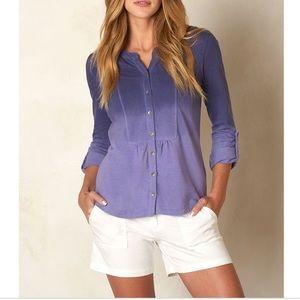 prAna Women's Amber Purple Fog Shirt